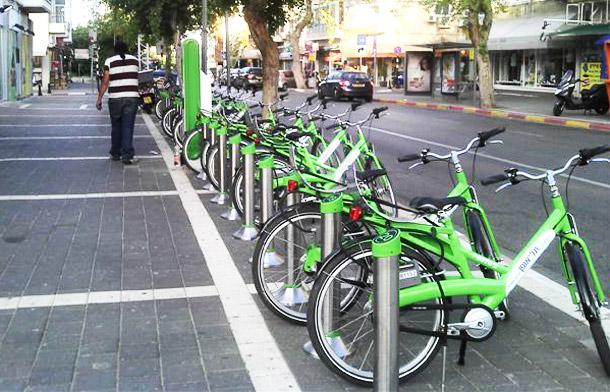 השכרת אופניים בקריות, בחיפה