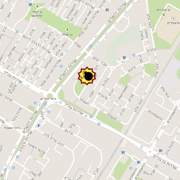 רחוב לילך בקרית ים בו אירע הפיצוץ. צילום: google maps
