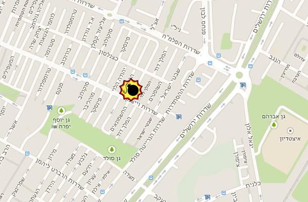 רחוב החשמונאים בו התפוצץ הרכב (גוגל מפס)